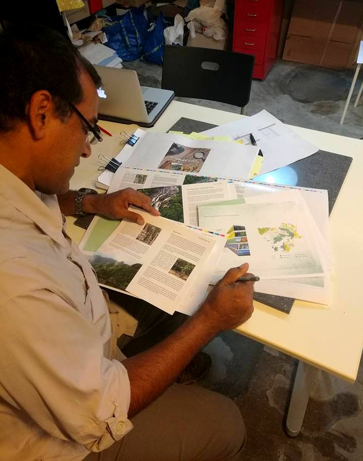Discovering Langkawi with Irshad Mobarak: Working on the final layout and artwork